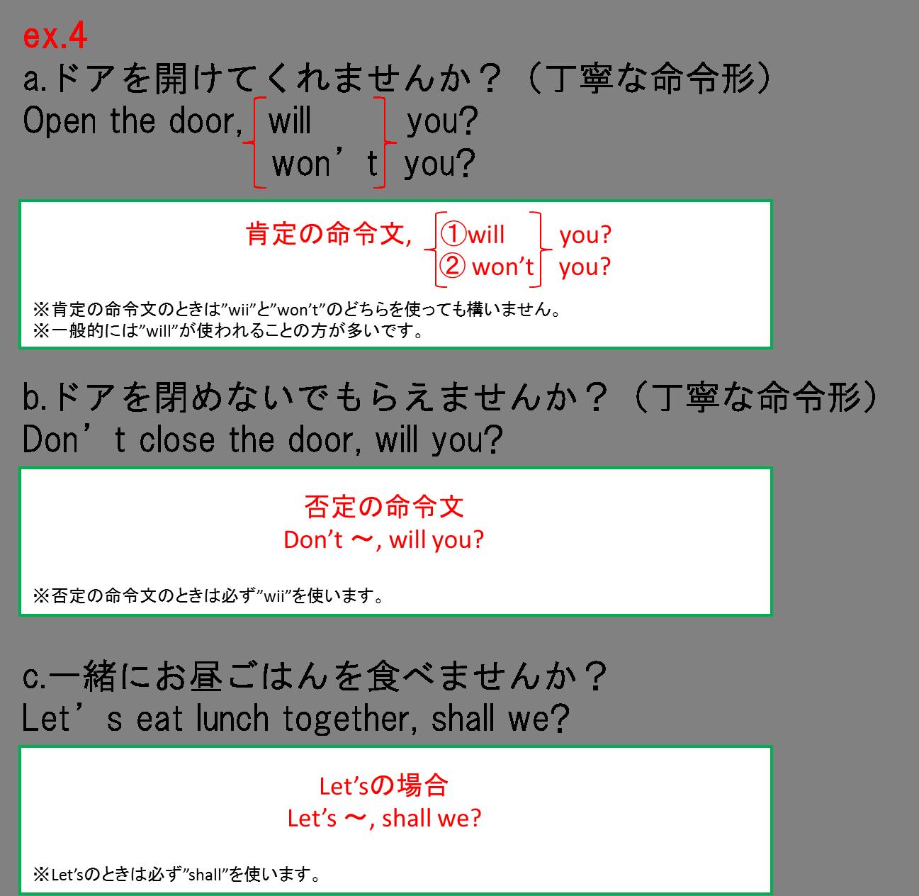 付加疑問文6